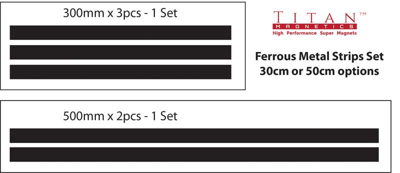 Metal Strips Sets options - Titan Magnetics