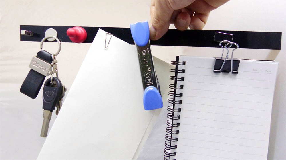 Metal Base Strips Attach Magnets and Objects
