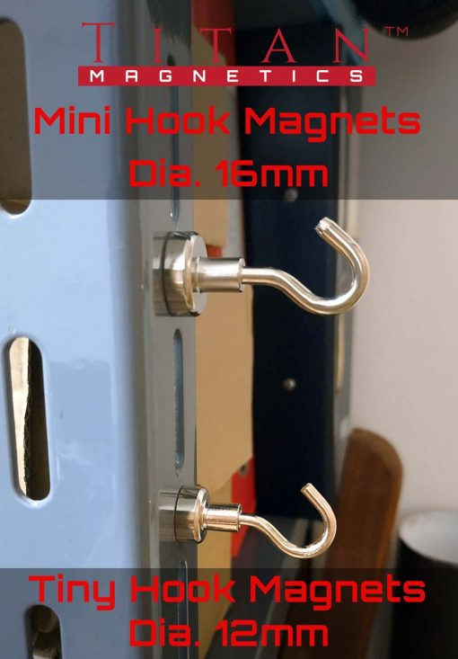 Mini Hook Neodymium Magnets d12 and d16mm