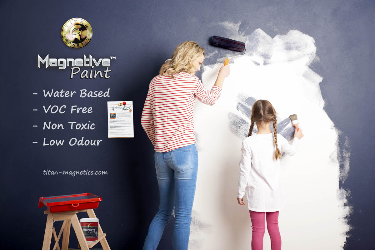 Mother Daughter magnetic painting wall
