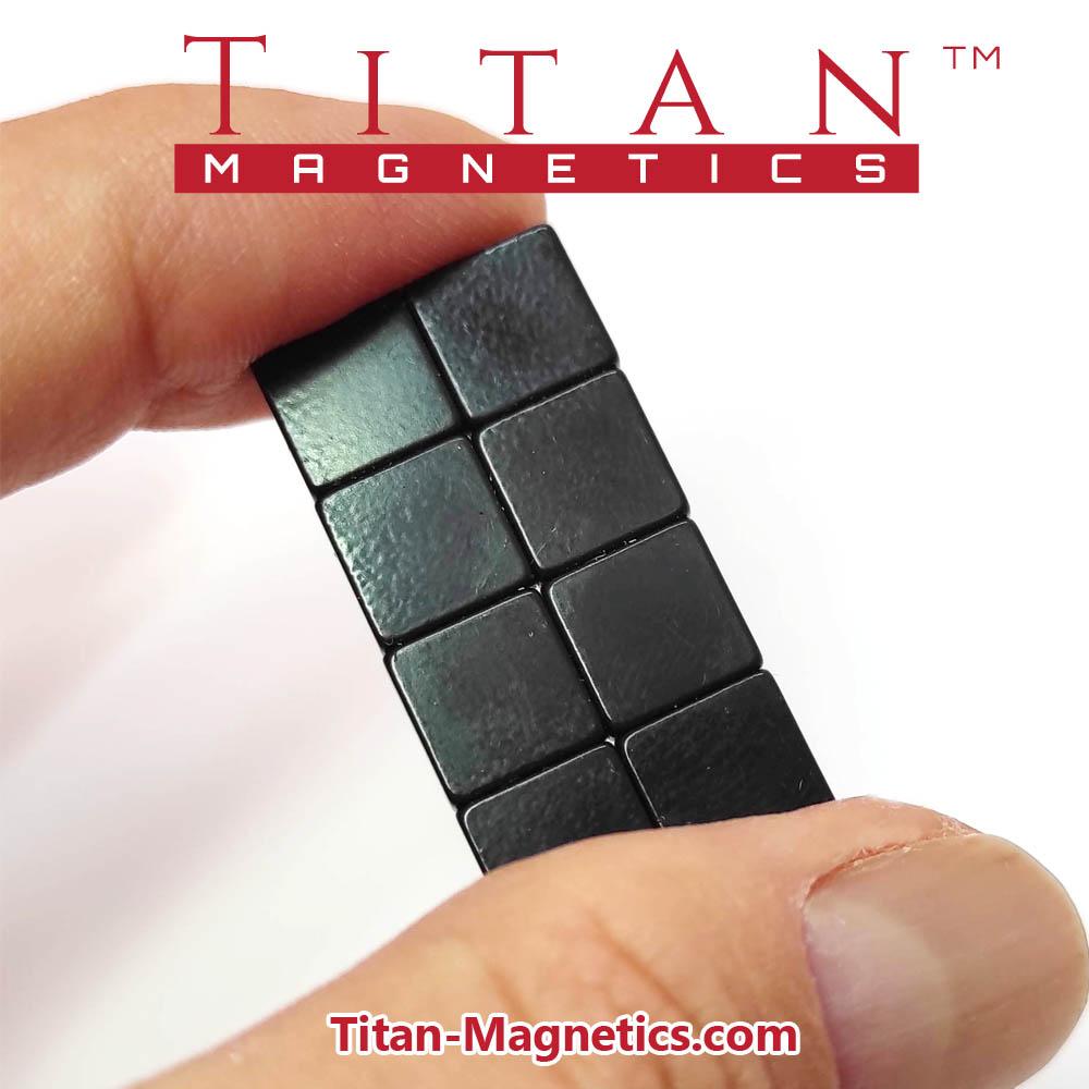 N42 Neodymium Magnets Epoxy Plated 8mm Squares