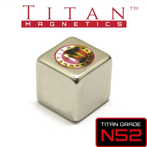 N52 Neodymium Cube Magnet Smooth edges