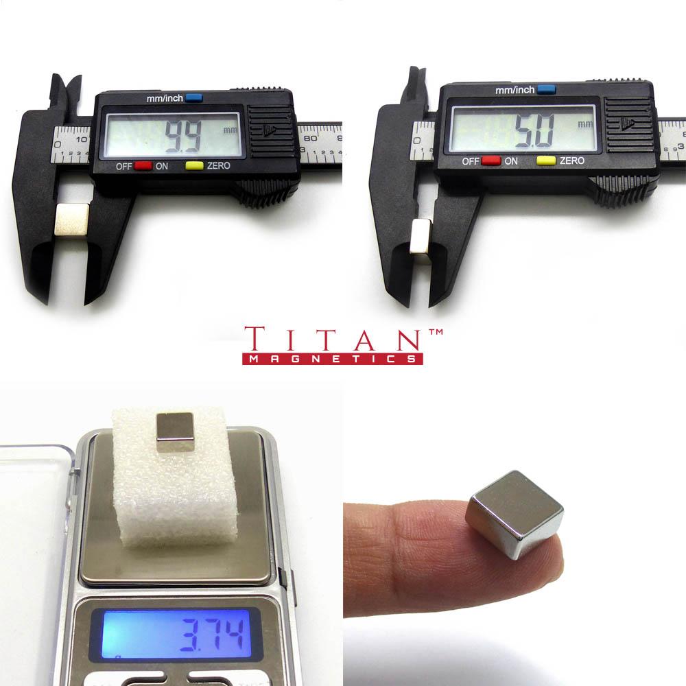 Square Neodymium Magnet Specification 10x10x5mm