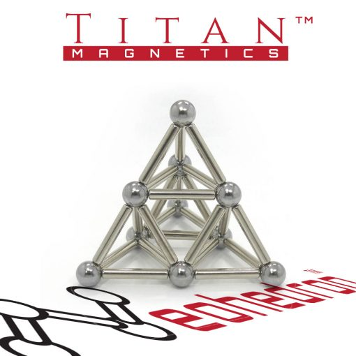 Titan Magnetics - Pyramid Shape from magnets and steel balls