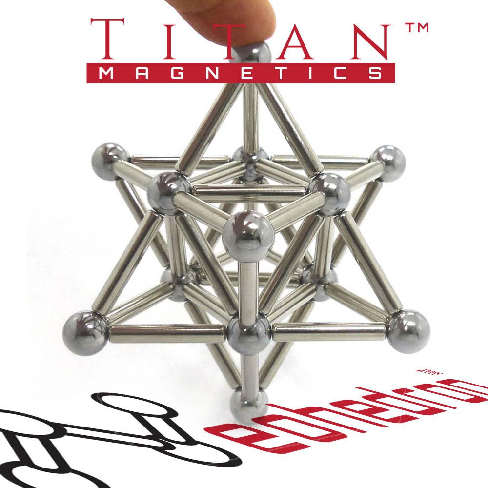 Magnetic Stella Octangula Sculpture by Titan Magnetics