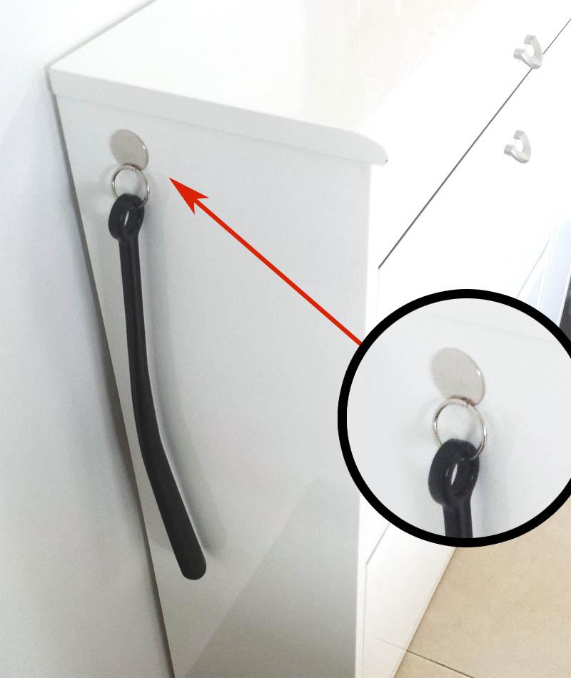 Large Disc Magnet on Shoe Cabinet