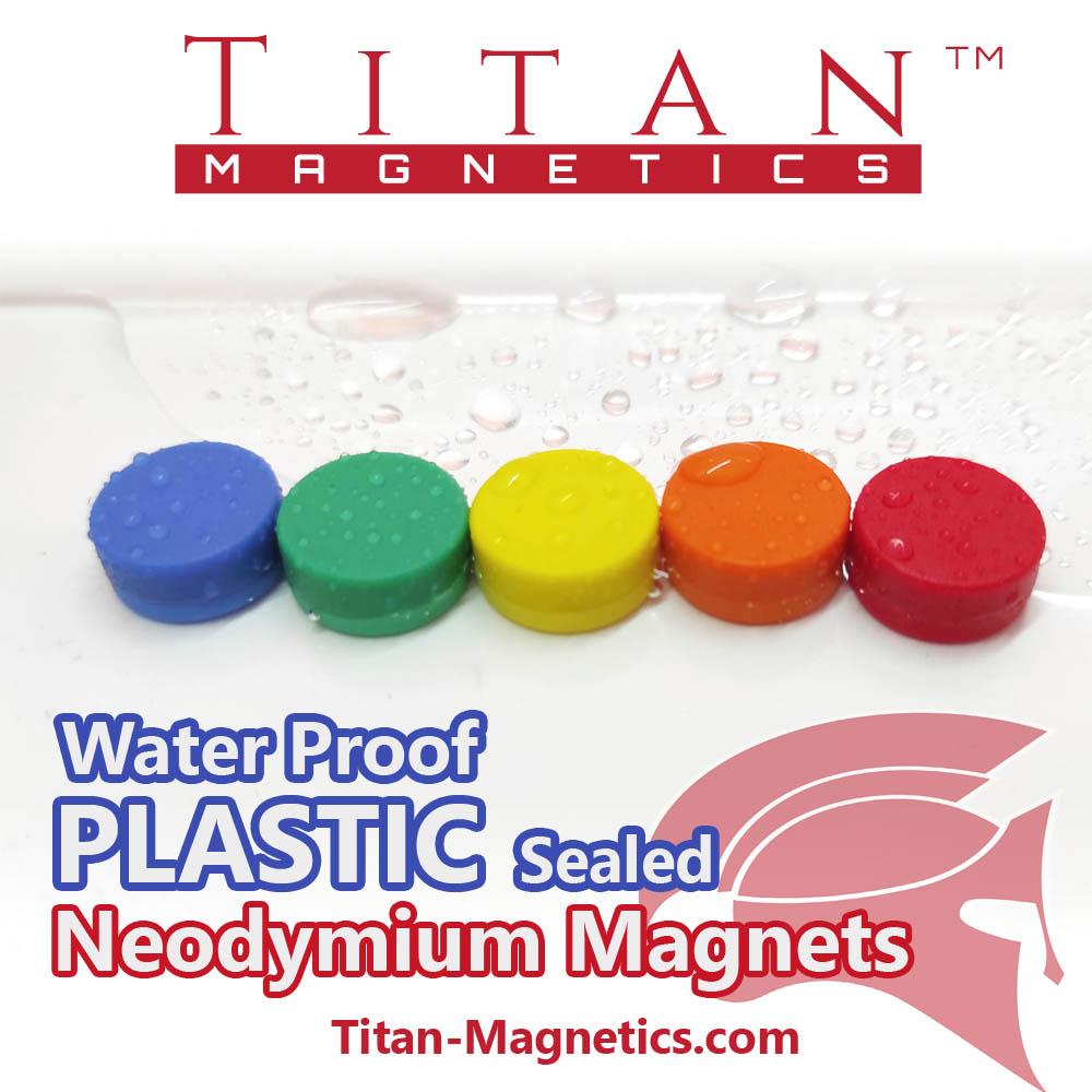 Plastic Coated Neodymium Magnets water resistant