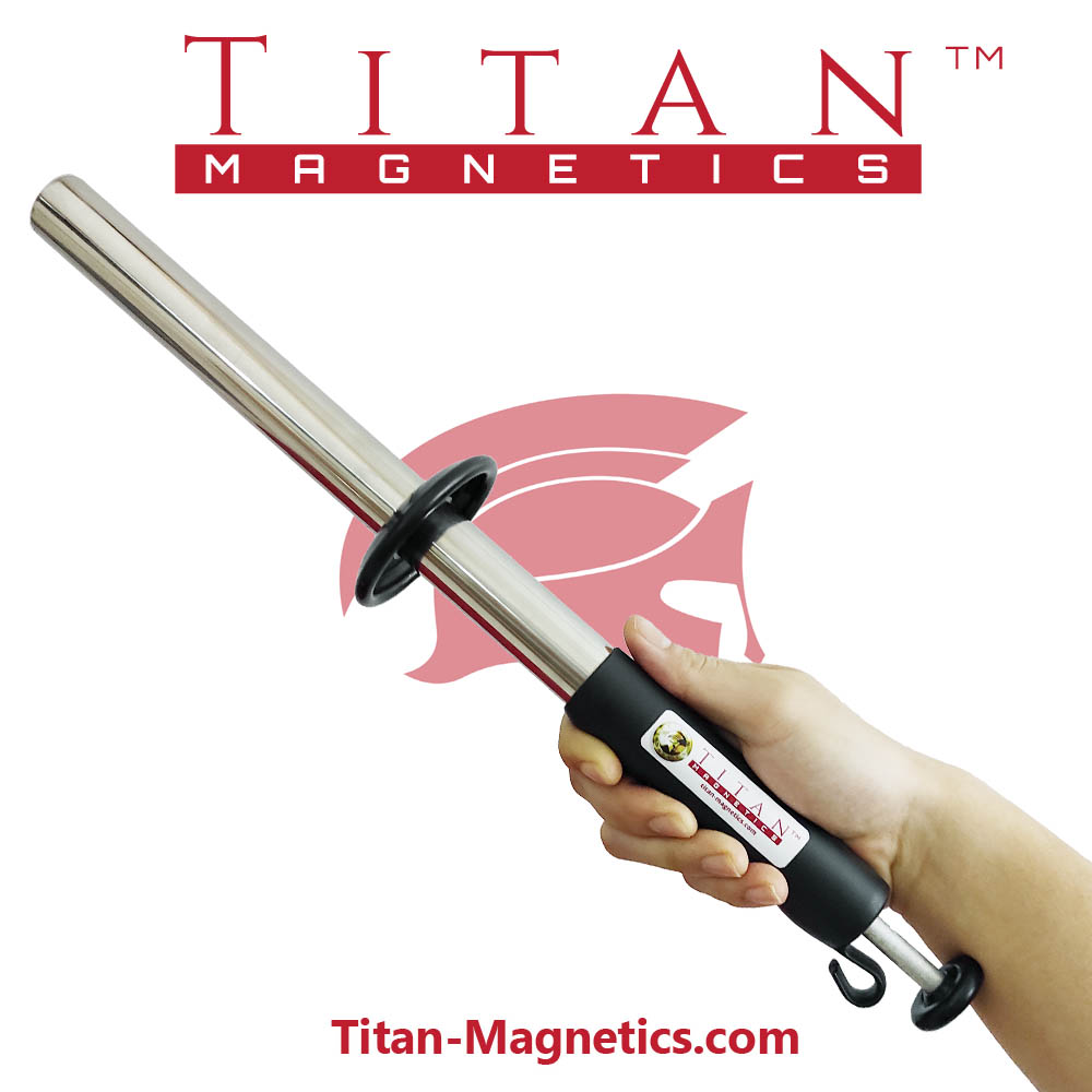 Portable Stainless steel magnetic filter rod handheld