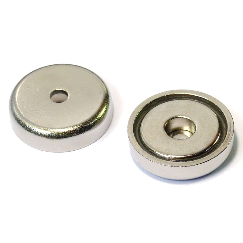 Strong Pot Neodymium Magnets 32mm dia