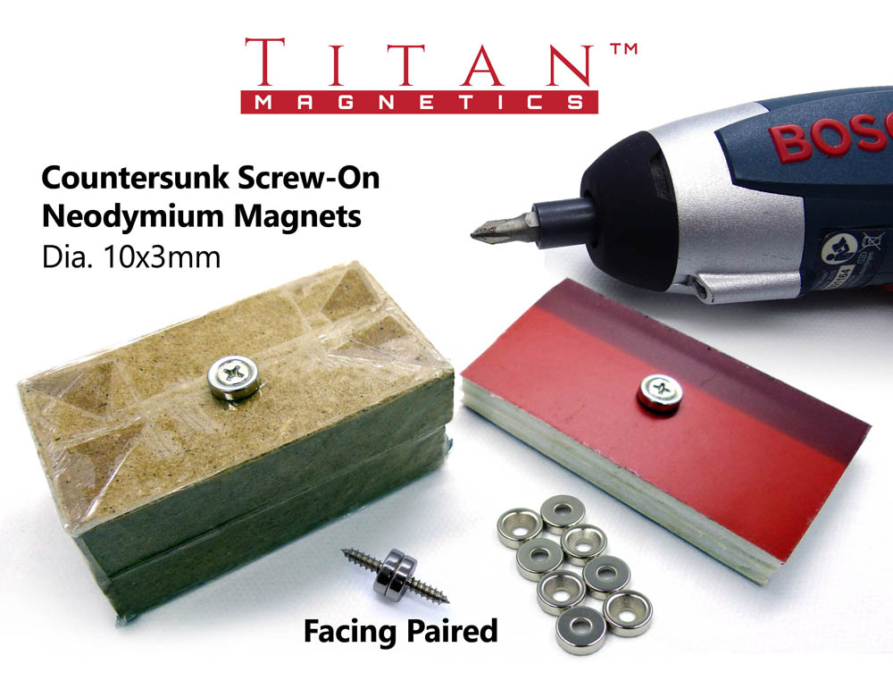 Screw-on Neodymium Magnets by Titan Magnetics