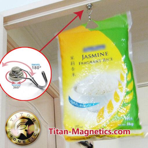 Small Swivel Hook Magnet hold 5kg bag rice