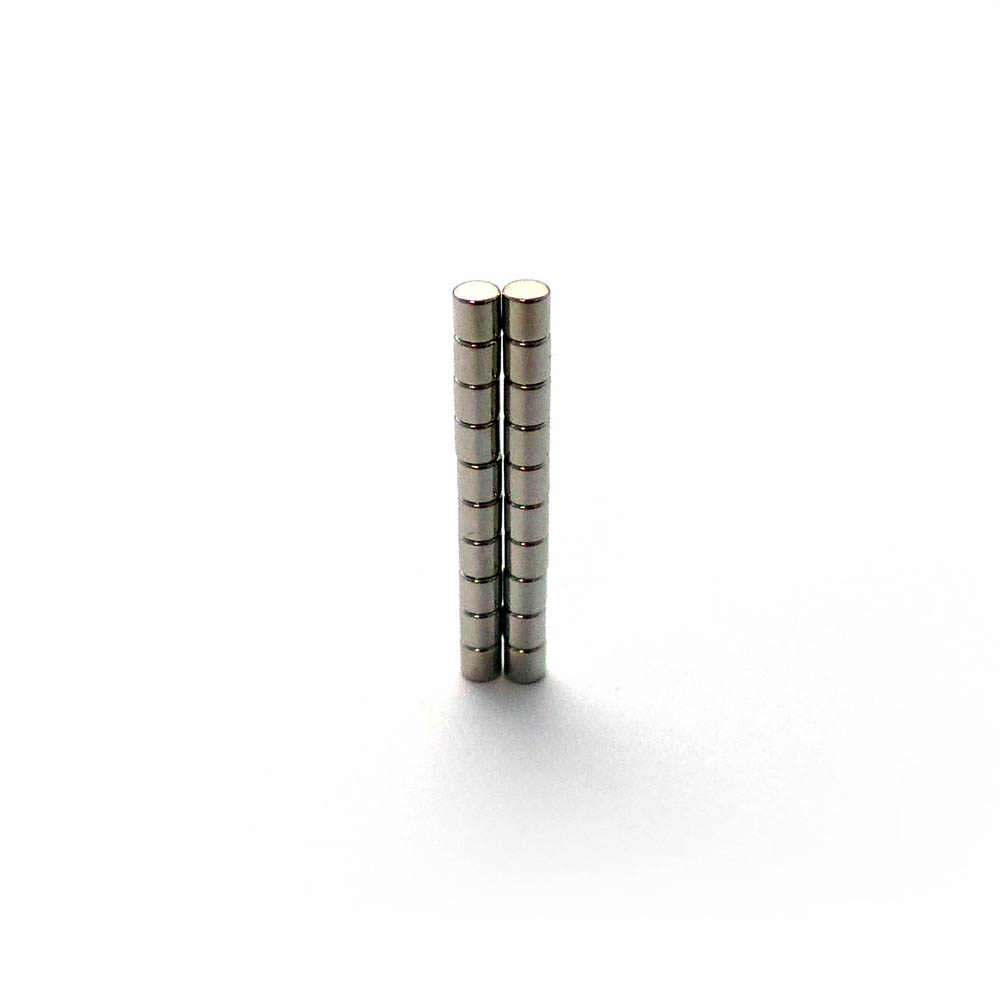 Cylinder Micro Sized Super Strong Magnets Dia 3mm X 3mm