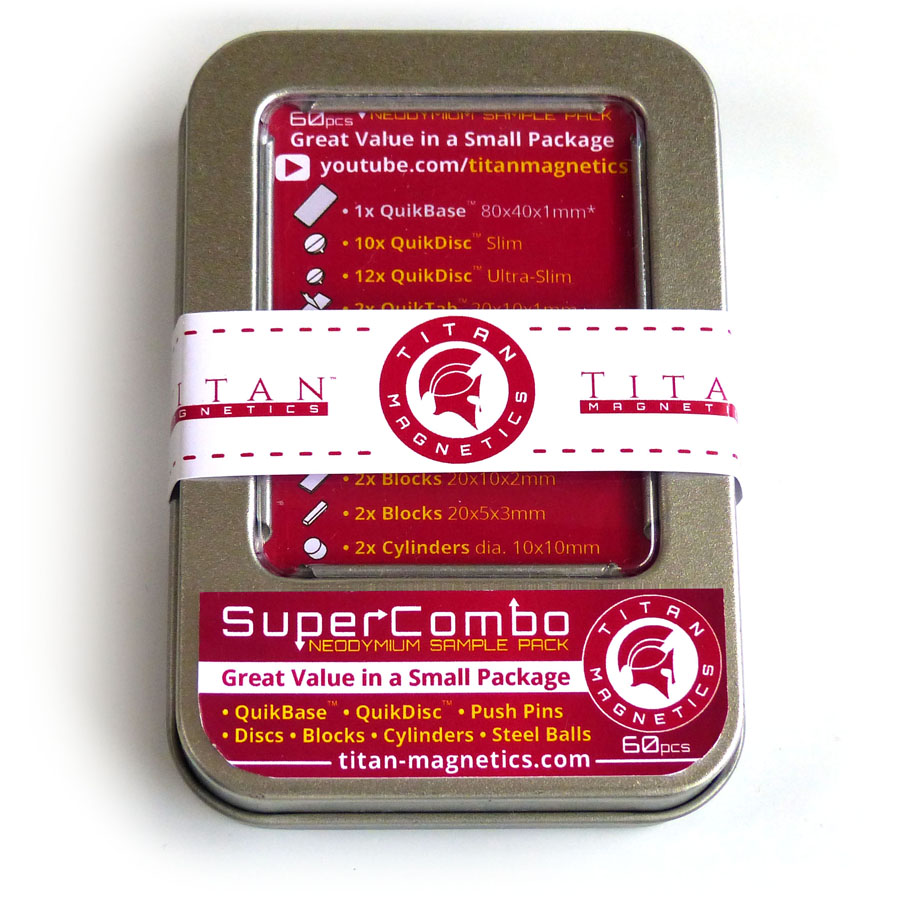SuperCombo Neodymium Magnets Sample Package