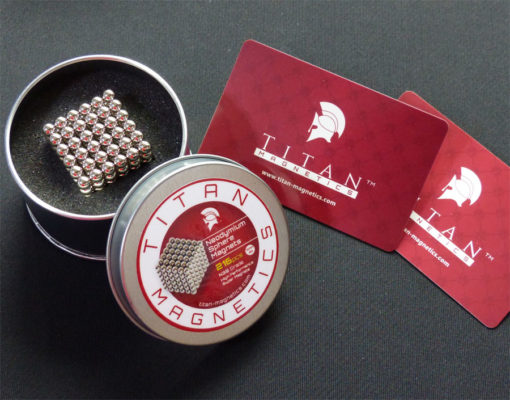 Titan Magnetics 5mm Sphere Magnets with PVC cards
