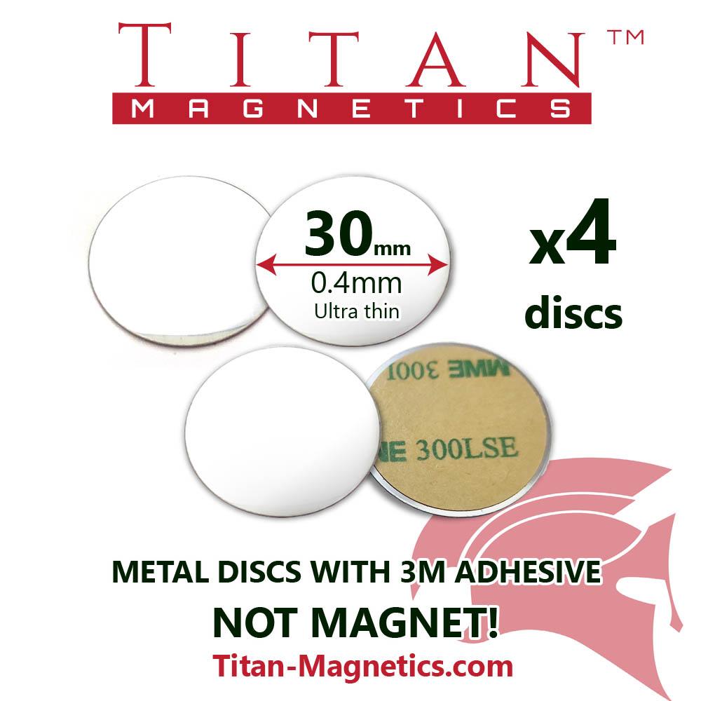 Ultra Slim Metal Disc for magnets dia 30mm 4pcs/set