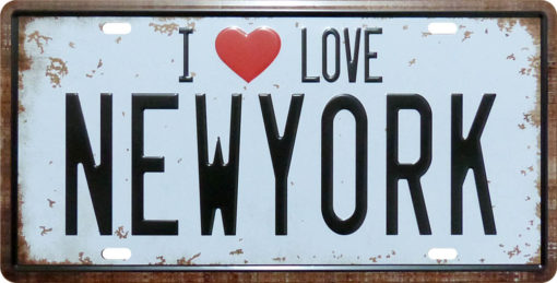 Vintage Car Plate IL New York