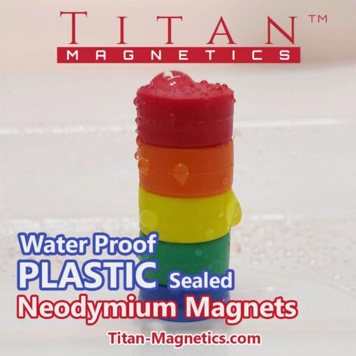 Waterproof Neodymium Magnets in Plastic Coating