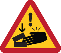 Warning Strong Magnet Finger Pinch